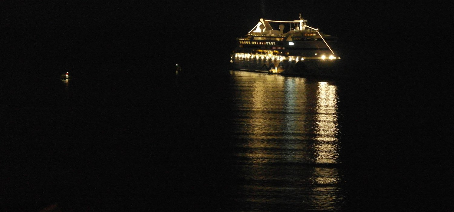 AIDAVita by night à Cannes